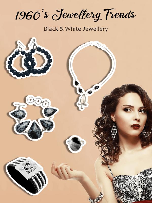 1960s black and white jewellery