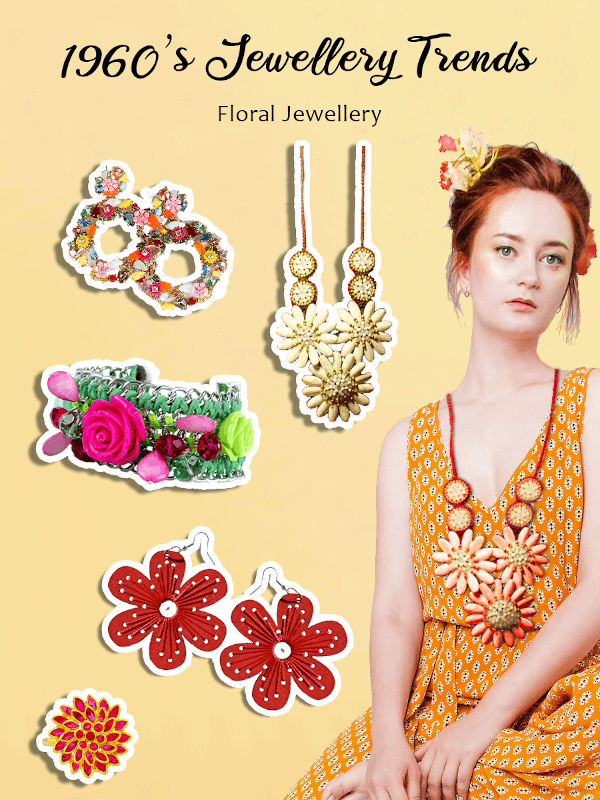 1960s floral jewellery