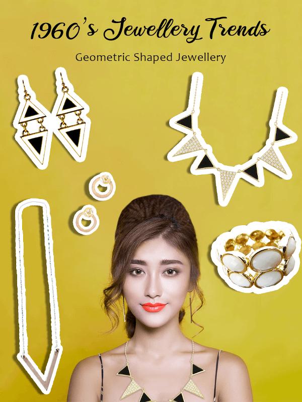 1960s geometric shaped jewellery