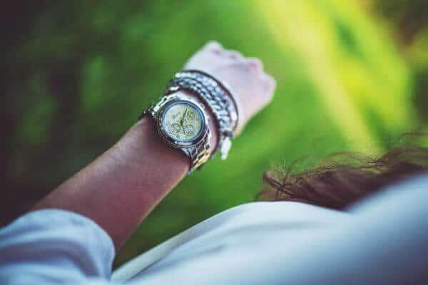 Sliver watch with sliver chain bracelets