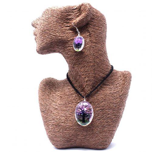 pressed violet necklace set_2